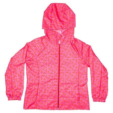 Jaqueta impermeável estampa Tutti pink