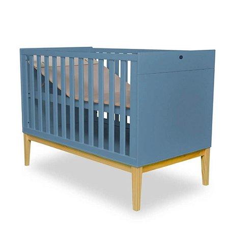 Berço Mini Cama retrô - Coleção Amor Perfeito azul