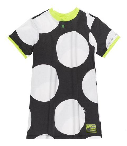 Vestido Poa bolas preto e branco - Animê