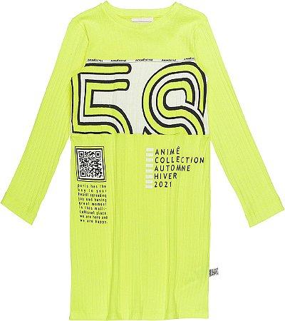 Vestido Manga Longa 58 Verde Neon - Animê