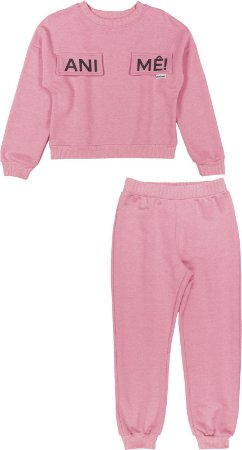 Conjunto Unificado Casaco e Calça Rosa Neon - Animê