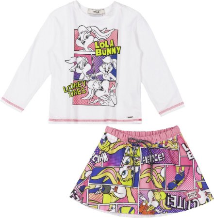 Conjunto Blusa e Saia Lola Bunny - Animê
