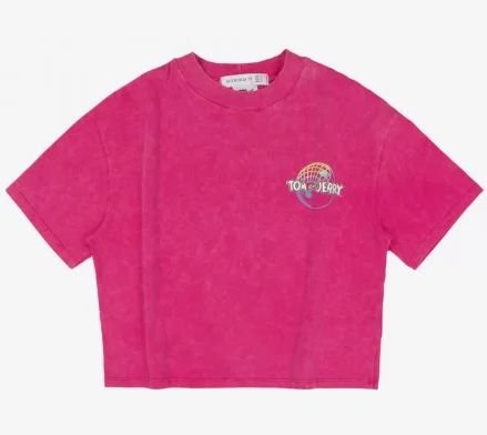 T-Shirt Pink Tom And Jerry - AUTHORIA