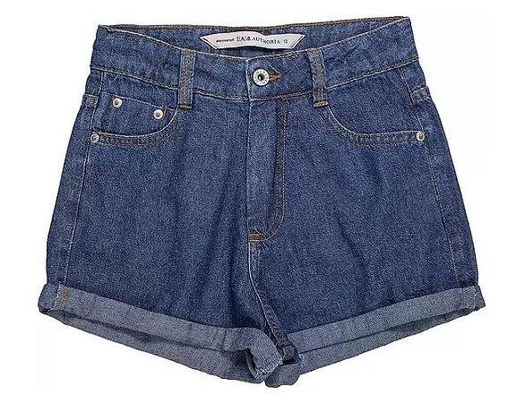 Shorts Jeans Cintura Alta - IAM AUTHORIA