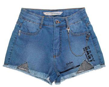 Short Jeans com Tela - IAM AUTHORIA