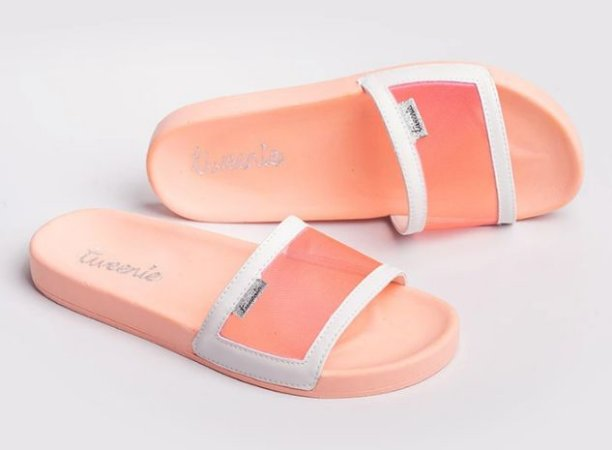 Chinelo GLOW Orange Transparente - Tweenie