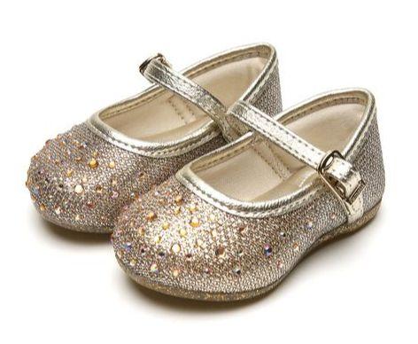 Sapato Primeiros Passos Angel com Rebites Dourada - Pampili