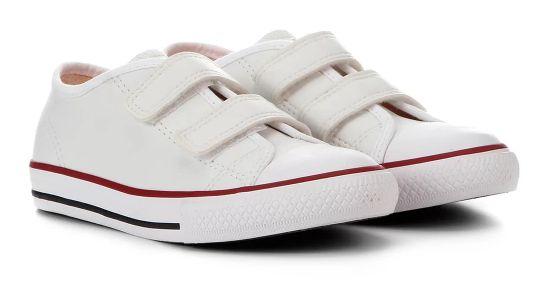 Tênis Canvas Velcro Branco - Diversão