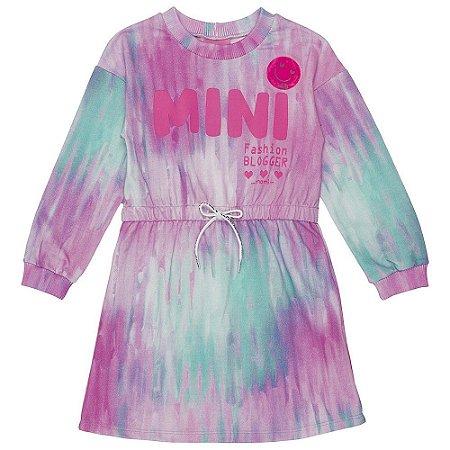 Vestido Tie Dye Manga Longa - Momi