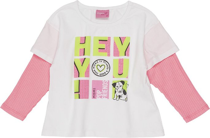 Blusa Manga Longa Sobreposta - Momi