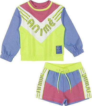 Conjunto Casaco e Shorts - Animê