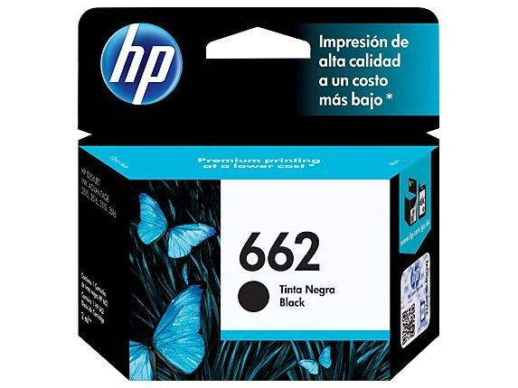 Cartucho de Tinta HP 662 CZ103AB | Preto | Original | 2ML