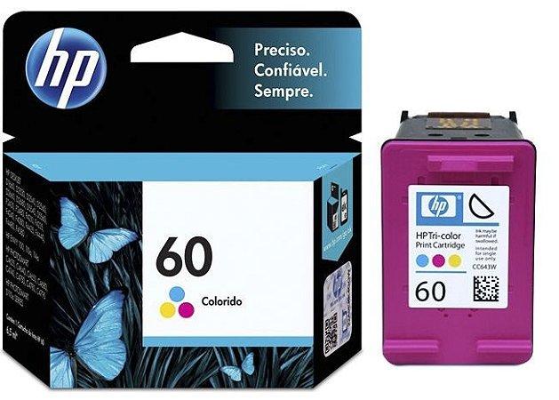 Cartucho de Tinta HP 60 CC643WB Colorido - Original 6,5ml