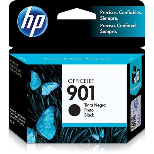 Cartucho de Tinta HP 901 CC653AB Preto - Original 4,5 ml