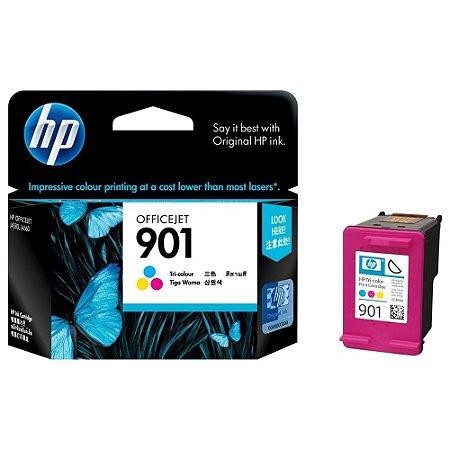 Cartucho de Tinta HP 901 CC656AL CC656AB Colorido - Original 13 ml