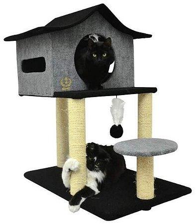 Arranhador Casa De Cuco para Gatos em Carpete Arranha Cat House para Gatos