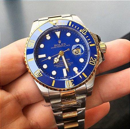 6ebd4fb76a0 Relogio R0lex Submariner Blue Gold - JOHNNY STORE BR