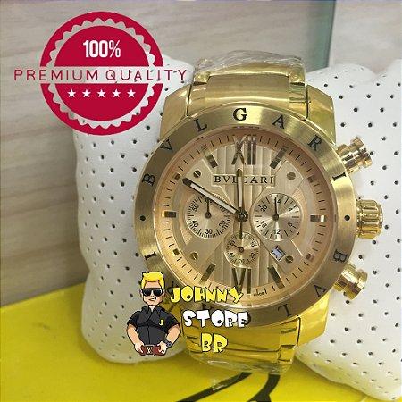 e1b5a90ee8f Relógio Bvlgari Homem de Ferro Gold - JOHNNY STORE BR