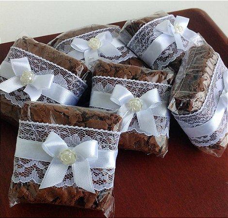 Brownie coberto com chocolate belga (20 unidades)