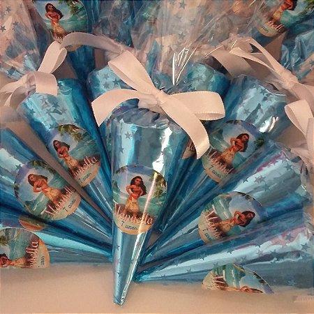 Cone Trufado (mini) c/ Chocolate Belga - PERSONALIZADO - 50 unidades