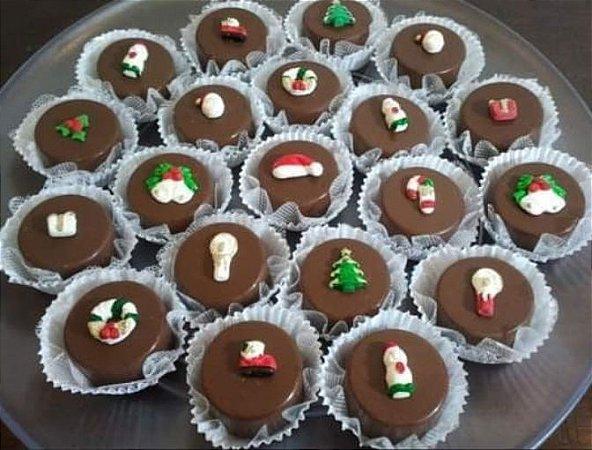 Bombom de Kinder com decoração natalina (30 unidades)
