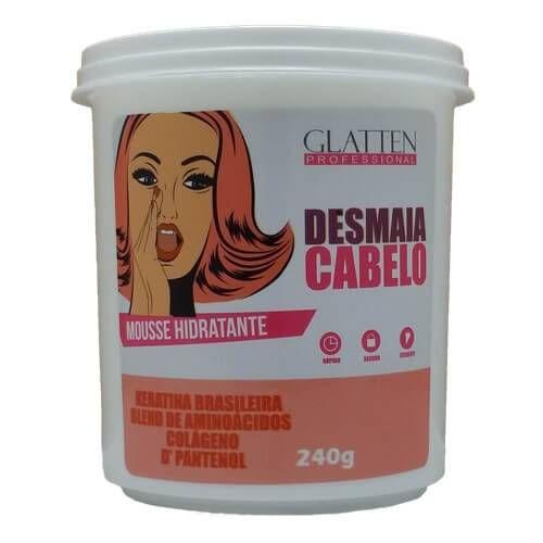 Máscara Mousse Hidratante Desmaia Cabelo Glatten 240G