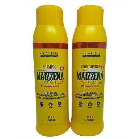 Kit Shampoo e Condicionador Maizzena Glatten