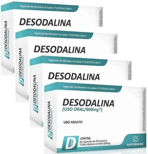Desodalina - Combo com 4 Caixas (240 cápsulas)