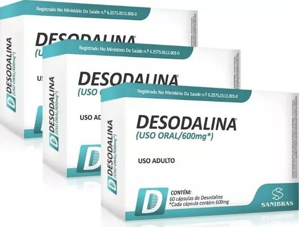 Desodalina - Combo com 3 Caixas de Desodalina (180 cápsulas)