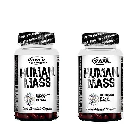 Human Mass da Power Supplements (2 frascos - totalizando 120 Cápsulas)