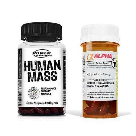 Alpha Axcell e Human Mass - Combo da Power Supplements