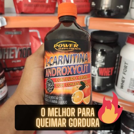 Comprar L Carnitina Androxycut com Vitamina B5 da Power Supplements