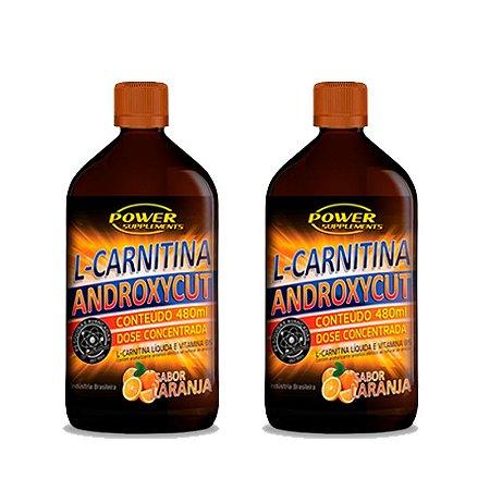 2 L-Carnitinas Androxycut com Vitamina B5 da Power Supplements - 480ml