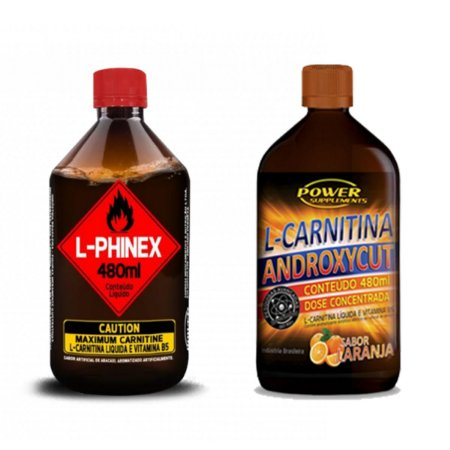Combo L-Carnitinas: Androxycut e L-Phinex Power Supplements