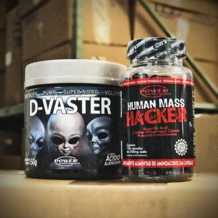 D-Vaster Ácido Alienígena (150g) e Human Mass Hacker - Power Supplements