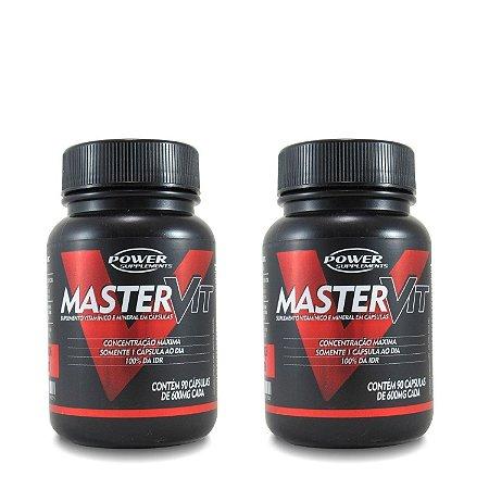 2 Unidades Polivitamínico MasterVit da Power Supplements - Total 180 Cápsulas!
