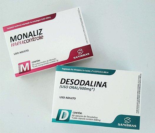 """2 Caixas de Desodalina e 2 Caixas do Monaliz """"Meu Controle"""" - PROMOÇÃO LIMITADA!"""