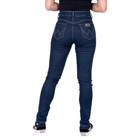 Calça Jeans Feminina Skinny Azul Escuro Original Wrangler