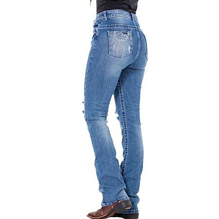 Calça jeans Feminina Tatanka Blue Rips