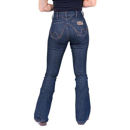 Calça Jeans Feminina com Elastano Wrangler Original Azul