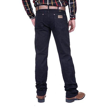 Calça jeans Masculina Wrangler Preta com Elastano Original