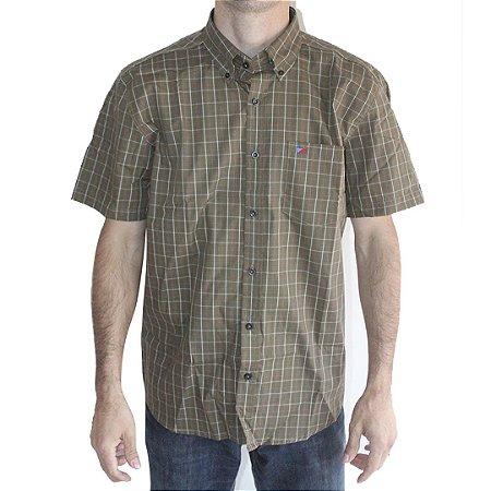 Camisa Manga Curta Masculina Verde Smith Brothers