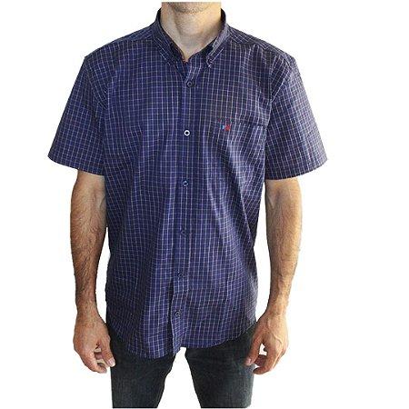 Camisa Manga Curta Masculina Azul Smith Brothers