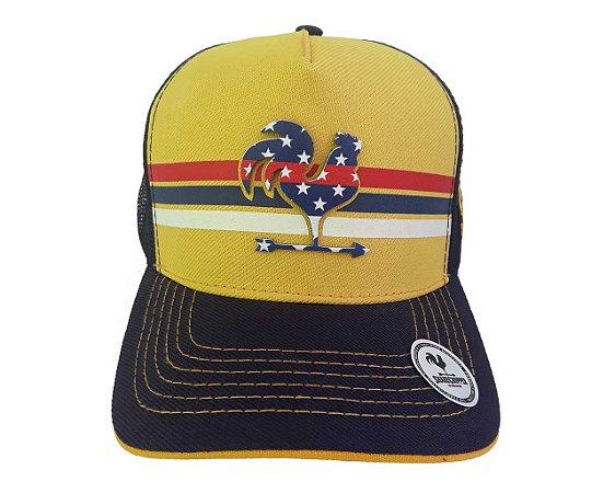 Boné Share Cropper trucker Original Amarelo e preto