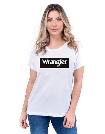 Camiseta Wrangler Feminina Básica Branca