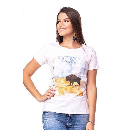 Camiseta Tatanka Feminina Bege Baby Look