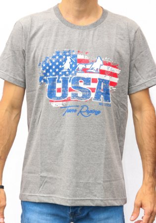 Camiseta Masculina Cinza Most - Team Roping