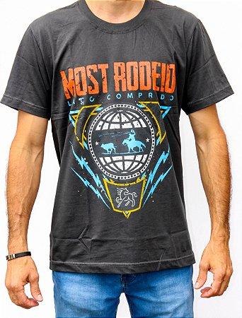 Camiseta Masculina Cinza Escuro Most - Laço Comprido