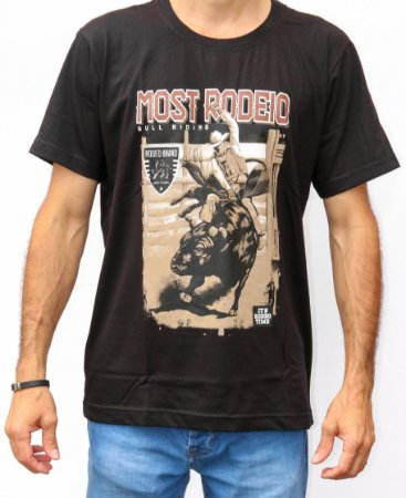 Camiseta Masculina Preta Most - Bull Rider