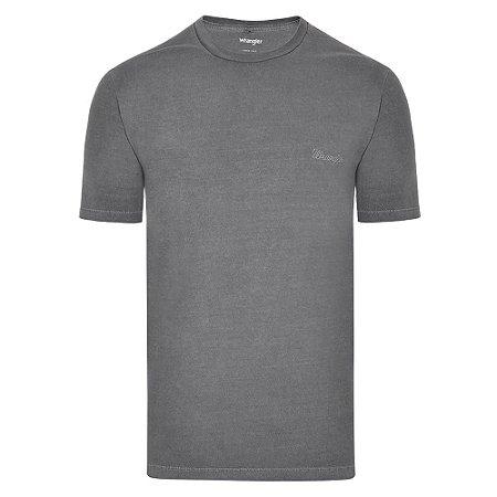 Camiseta Wrangler Masculina Cinza Original